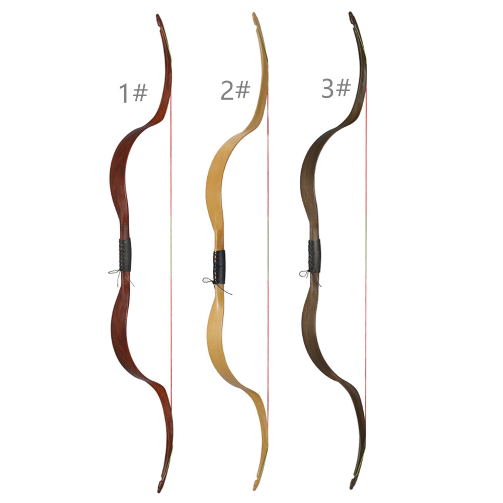1X NIKA Tiro Con L'arco Tradizionale Arco Ricurvo ET-4 Meng Yuan Arco 48