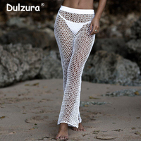 Boho Style Summer Fishnet Pants Women 2018 Knitted Hollow Out Trousers Women Holiday Beach Bohemian Crochet Flare Pant Female