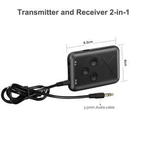 Image 2 - Adaptador Bluetooth 2 en 1, estéreo, 3,5mm, receptor y transmisor de música inalámbrico, adaptador para auriculares de coche, teléfono móvil ESTÉREO