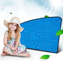 R-2938 Single Layer Sunscreen Retractable Magnetic Car Curtain Magnet Sunshade Water Drop