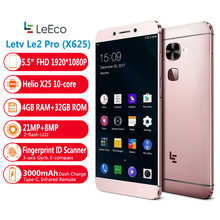 "Letv Le Eco Le 2 Pro X625 Helio X25 CPU 4GB RAM 32GB ROM 4G LTE Mobile Phone android 6.0 5.5 ""FHD 21.0MP Fingrprint ID Smartphone(China)"