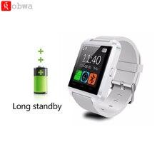 font b Smartwatch b font Bluetooth U8 Smart Watch Silicone Strap Clock Sport Bracelet Passometer