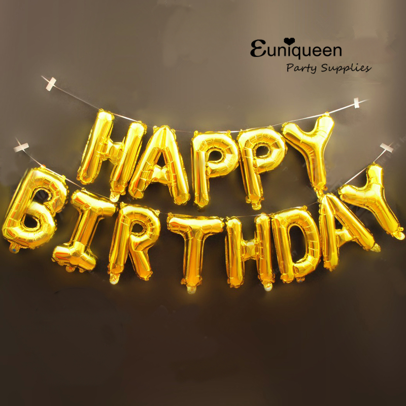 Happy Birthday Balloons Alphabet Letters Hanging Birthday