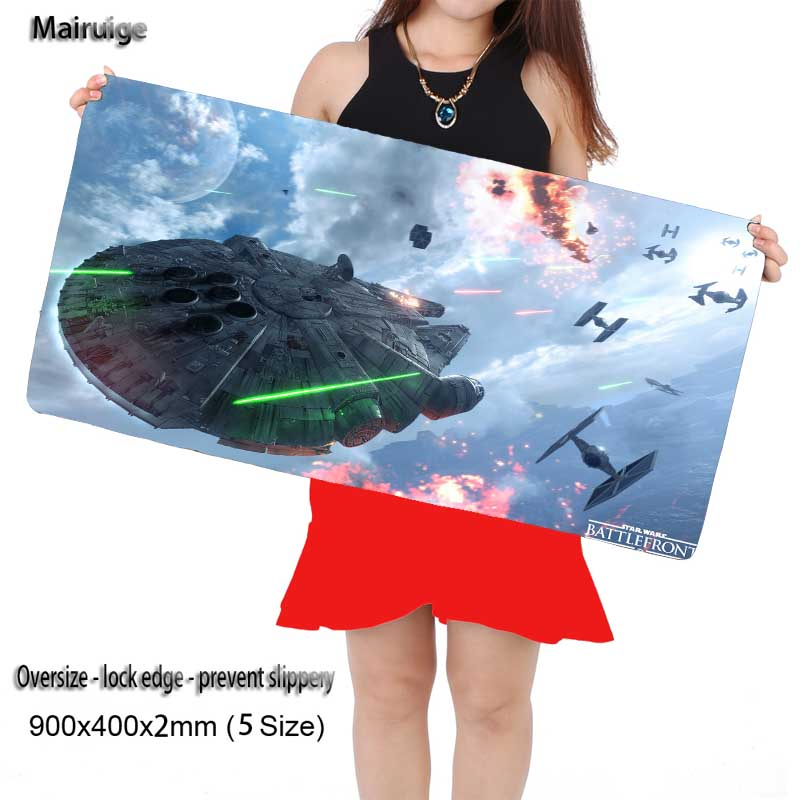 Mairuige Shop Star War Space Gaming Mouse Pad Overlock Black Rubber Non-slip Mousemat PC Computer Desk Speed Mice Play Mat