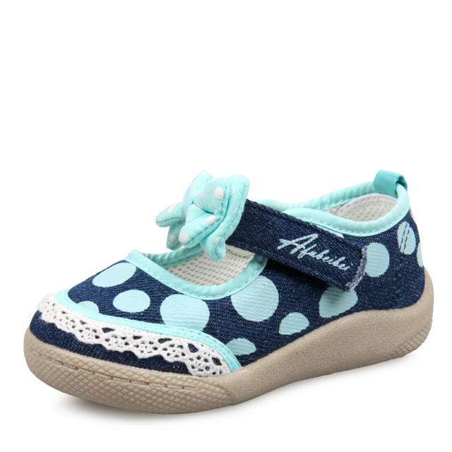 Infant Baby Girl Shoes Dot Polka Children Rubber Boots Toddler Moccasins Fabric Baby Booties Canvas Shoes First Walkers 503010