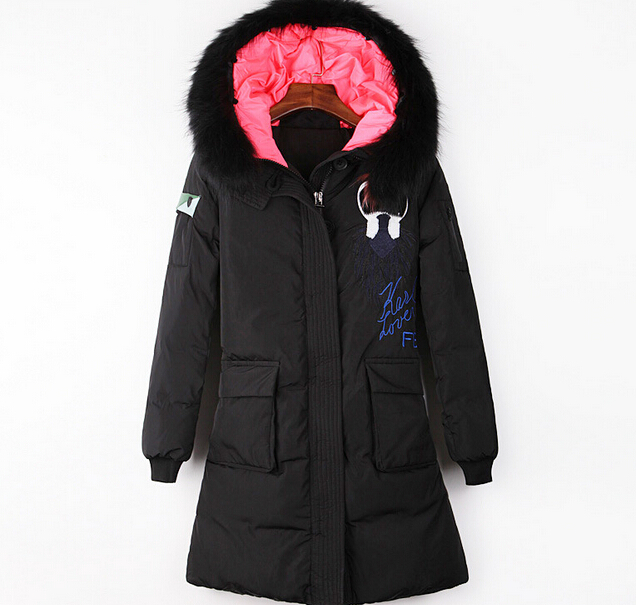 9019de0242a 2015 New paris fashion Galeries Lafayette karlito high quality women winter  jackets and coats free shipping black long down coat