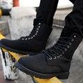 Dr. Martin Botas de Couro moda Inverno Martin Botas de Alta Top Calçados Casuais dos homens Mid-Calf Motorcycle Botas Mais tamanho-G