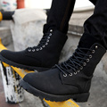 Fashion Winter Leather Dr Martin Boots Martin High Top Casual Shoes Men's Boots Mid-Calf Motorcycle Boots Plus Size-G