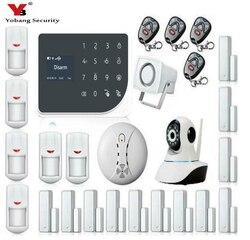 Yobang segurança sem fio gsm casa rfid assaltante segurança lcd toque teclado wi fi gsm sistema de alarme sensor kit