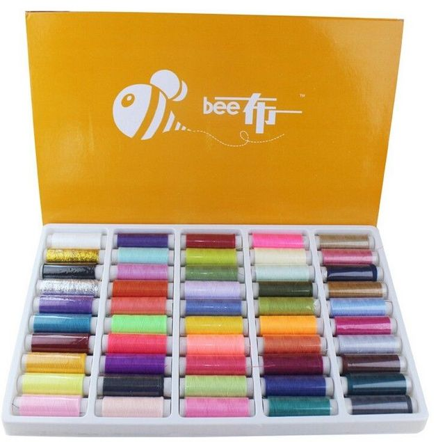 50pcs Sewing Thread Set Home Sewing Hand Stitching Threads Polyester Spools 150 Y