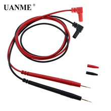 UANME Universal Multimeter Probe Test Leads Cable for Digital Multi Meter Test Leads Wire Pen Cable 1550mm 1set smd kelvin test clip 4 bnc test tweezer probe leads cable for lcr meter dmm