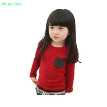 Boys Girls Spring and Autumn Long-sleeved T-shirt Kids  Long-sleeved sports  Shirt Baby Warm clothing 2-6y Girls Clothes Cotton hot sale kids cartoon boys and girls long sleeved t shirt casual clothing gray kitty pink black free shipping available