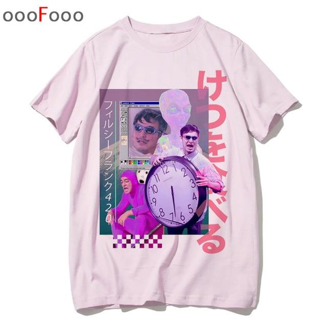 Sad Girl Retro Anime Men aesthetic Fashion Japanese T-Shirt 4