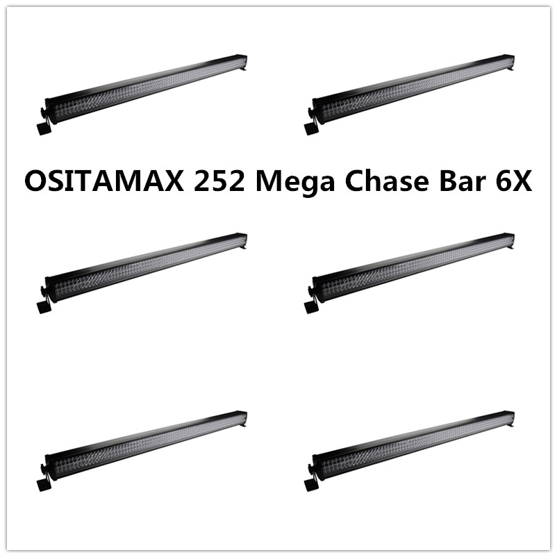 6pcs/lot 252 10mm Mini Leds IP33 Wash Effect Linear Bar Cans RGB Color Lcd Display Bar Wall Washer