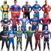Adult Superhero Party Cosplay Batman Ironman Hulk Muscle Jumpsuits Mask Avengers Superman Spiderman Bumblebee Onesies Costume
