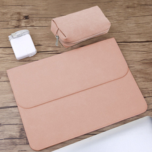 Matte PU Leather Sleeve Waterproof Laptop Bag 14 15.6 For Macbook Xiaomi Air 13 Case 11 12 New 2018 pro 15 Cover Women Men Bags