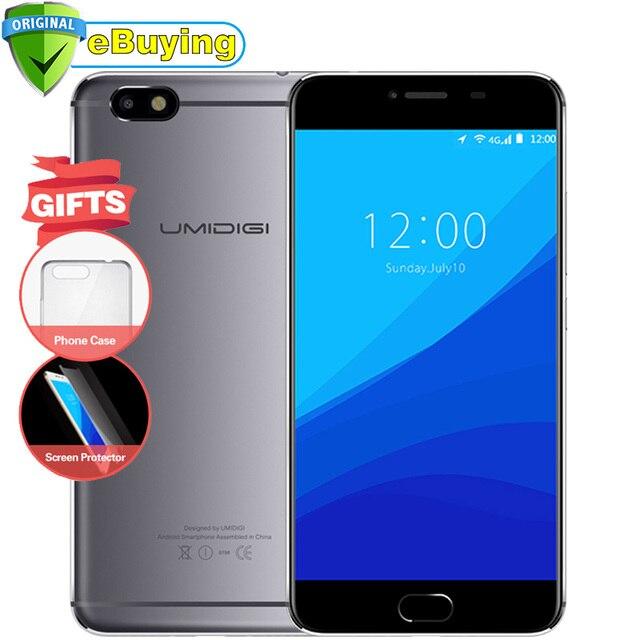 "Umidigi C Note Android 7.0 Smartphone MTK6737T Quad Core 3G RAM 32G ROM 3800mAh 5.5"" 1920x1080P 13MP Unlocked 4G Mobile Phone"