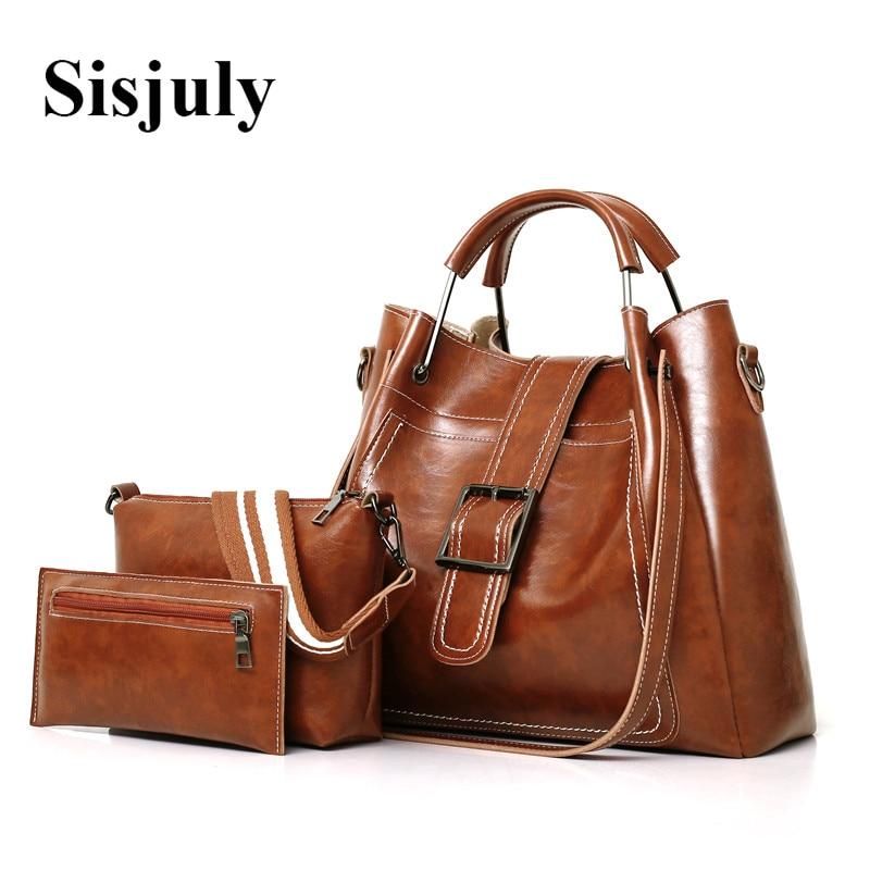 Sisjuly Women Bags Leather Luxury Handbags Famous Brands Female Shoulder Bags Designer Crossbody Bags For Women's Messenger Bag sisjuly фуксин xxxl