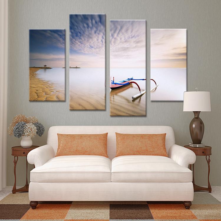 unidades barco belong playa fij pinturas pared pintura grabado en la lona para ideas decoracin