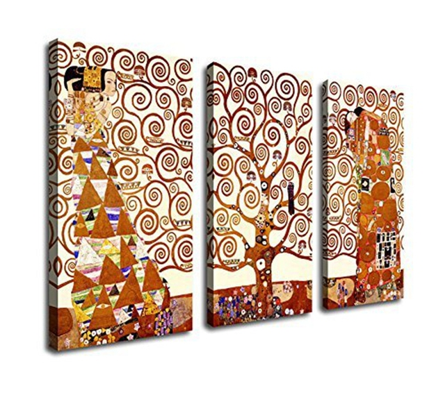 3 Piece Painting Wall Art Tree of Life Modern Canvas Classical Oil Painting Wall Art Living  sc 1 st  AliExpress.com & 3 Piece Painting Wall Art Tree of Life Modern Canvas Classical Oil ...