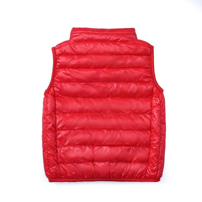 Image 5 - 2019 New Children Vests Winter Ultra Light White Duck Down Vest Coats Boys Girls Sleeveless Jacket Kids Windproof Warm Waistcoat-in Vests from Mother & Kids