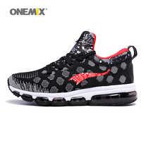 ONEMIX 男性のスポーツスニーカー屋外ランニングシューズ高弾性女性黒赤カップルトレーナースポーツの靴販売