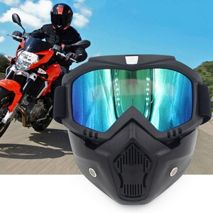 Image 4 - Safety Goggles Face Mask Windproof Dustproof UV protection Eyewear Mask Removable Bicycle Motorcycle Tactical Goggles Masks