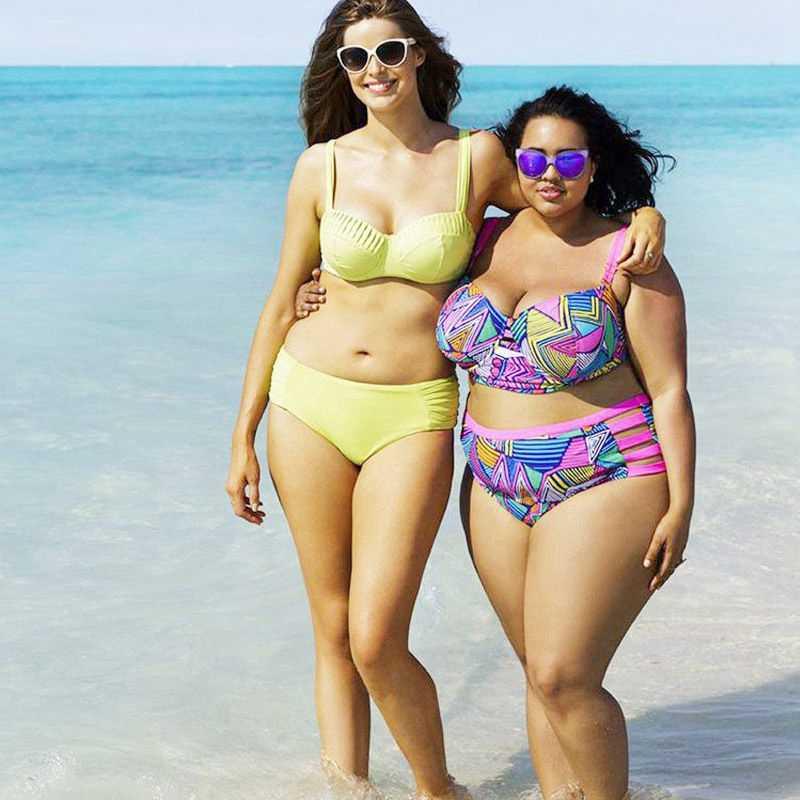 2017新しい印刷スーパービッグサイズbikinisプラスサイズセクシーな脂肪レディースビキニセット夏beachwears水着水着