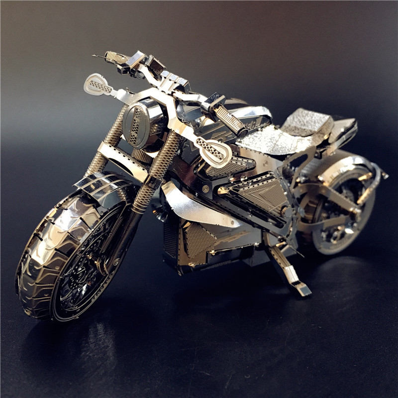 Image 2 - MMZ MODEL NANYUAN 3D Metal puzzle Vengeance Motorcycle Collection Puzzle 1:16 l DIY 3D Laser Cut Model puzzle toys for adult-in Puzzles from Toys & Hobbies
