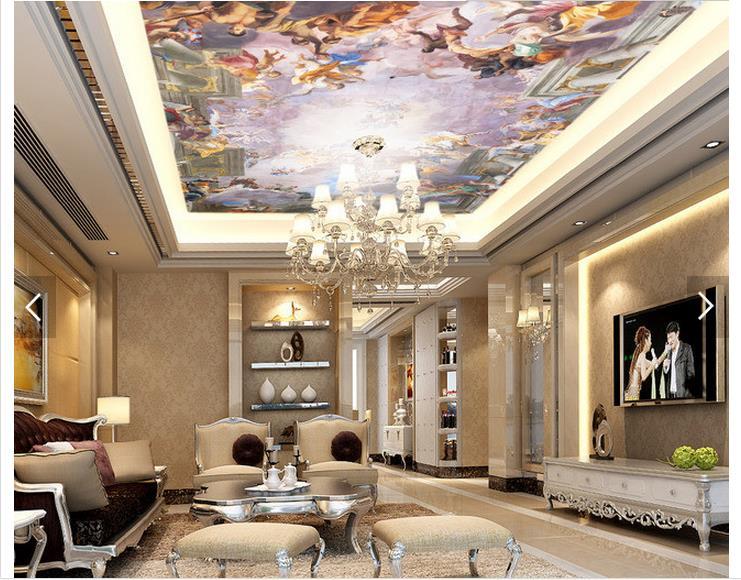 Custom 3d photo wallpaper 3d ceiling wallpaper murals