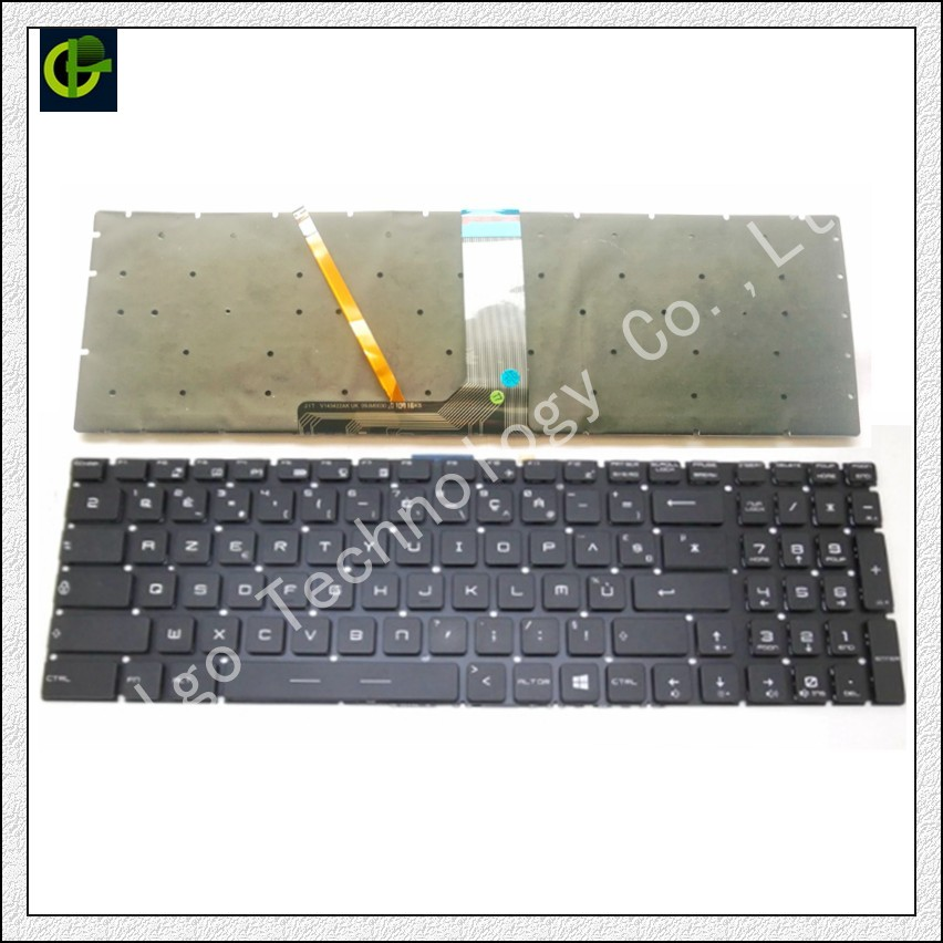 French Azerty RGB backlit colorful Keyboard for MSI MS-16K2 MS-16L2 MS-16JB MS-179B MS-1796 MS-1799 MS-16J9 MS-1792 FR