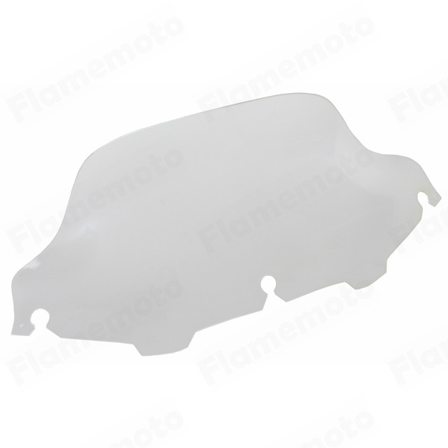 """Motorcycle Clear 8"""" Wave Windshield Windscreen For Harley Touring Electra Street Tri FLHX FLHT FLHTC 1996-2013"""