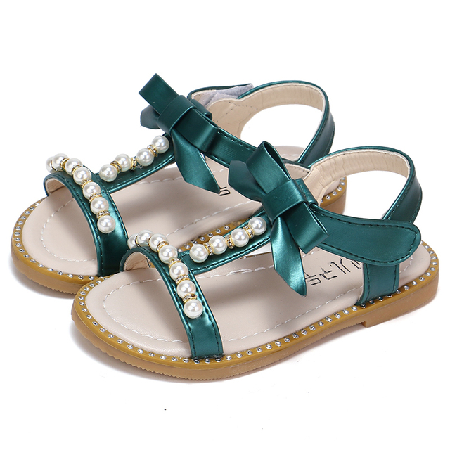 b7d3ed6ef COZULMA 2019 Children Girls Summer Shoes Girls Sandals Flip Flops Kids  Beach Sandals Girls Princess Pearl Beading Shoes With Bow