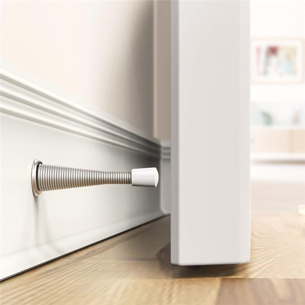 1Pc Rubber Cap Metal Door Stops Spring Door Stopper Wall Decorative Door Stopper Protect Doors & Wall Metal Door Stops