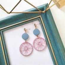 Fashion ladies earrings Geometric statement earring 2018 metal earing Hanging fashion jewelry trend