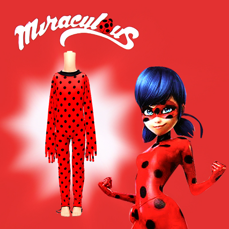 Girls Lady Bug Costumes,Marinette Children Girls Dance Dress Miraculous Ladybug Cosplay Kids Clothes,2018 New LadyBug Costumes new zero two cosplay costumes 002 darling in the franxx dyesub printed zentai bodysuit women girls lady lycra female plugsuit