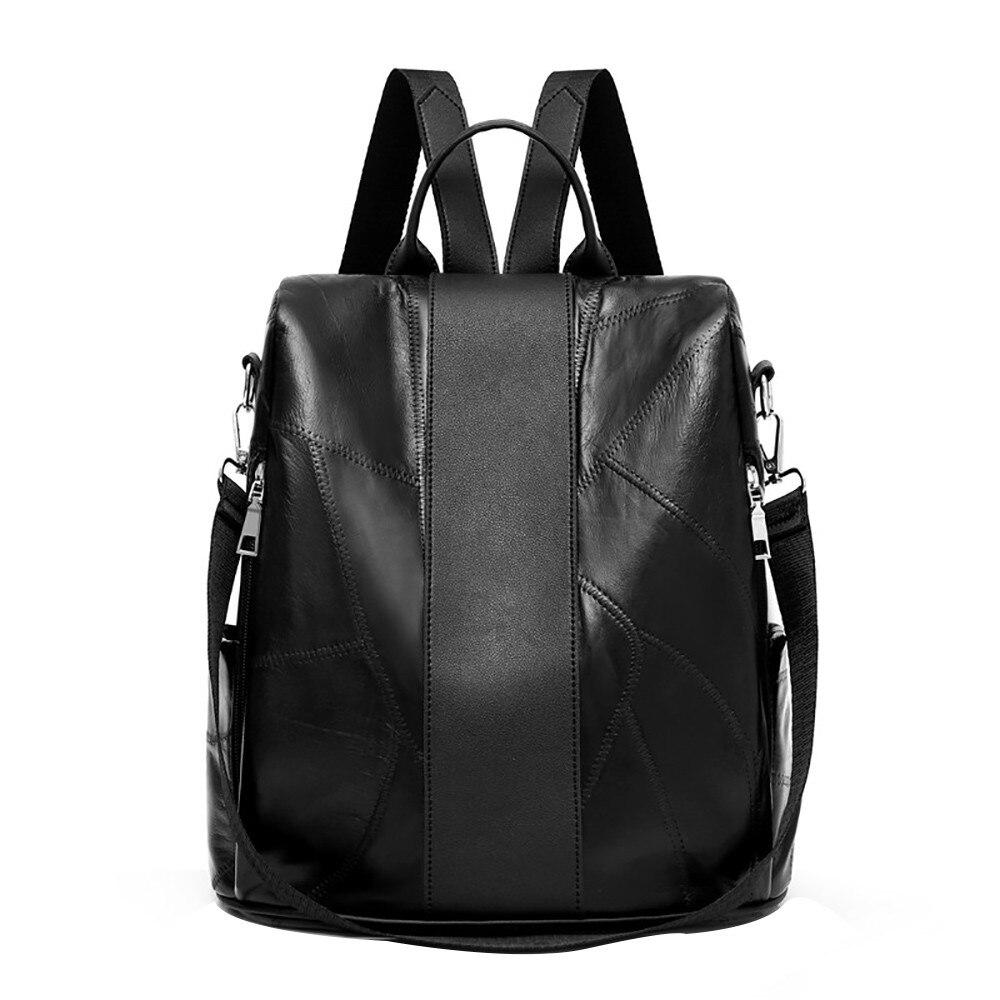 Backpack Women Japan And Korean Leather Sheepskin Backpack Travel ... b4add8ae5454c