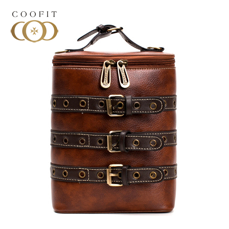 Coofit Fashion Women Bags For 2018 Female Retro Preppy Style Mini Bucket Bag Multifunctional Leather Girls Backpack Shoulder Bag 2017 fashion all match retro split leather women bag top grade small shoulder bags multilayer mini chain women messenger bags