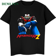 Mazinger Z Print T Shirt Men's Short Sleeve O-neck Cotton T-shirts Male Funny T-shirts Casual Anime Tees Tops Streetwear