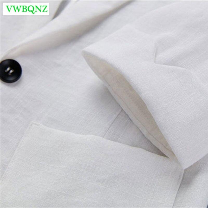 Spring Autumn New Slim Fit Blazer Women Formal Jackets Office Work Seven sleeves Blazers White Plus size Ladies Blazers 7XL A705