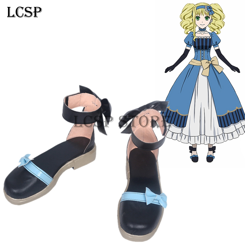 Black Butler Book of the Atlantic Elizabeth Midford Cosplay Shoes Anime Boots