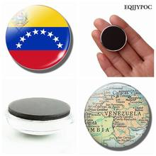 Bolivarian Republic of Venezuela Flag Map 30 MM Fridge Magnet Glass Cabochon Magnetic Refrigerator Stickers Holder Home Decor(China)