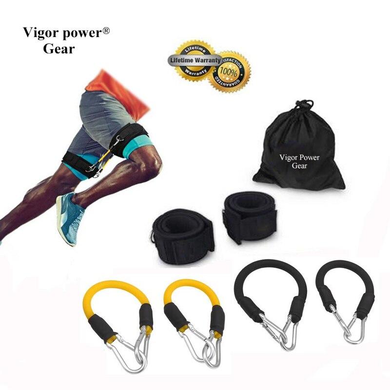 Vigor Power Gear 4 Tubes Resistance Bands Whole Set Leg Training Workout for Run Kick Boxing Punch Taekwondo All Sports