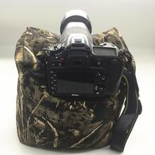 Синяя Нейлоновая Водонепроницаемая Подушка-мешок для камеры, камуфляжная сумка для макросъемки, пустая сумка