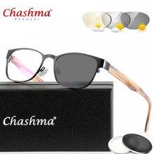 Projeto Homens Metade Aro de liga de Titânio Óculos de Leitura Presbiopia  Óculos Fotocromáticas óculos de sol Descoloração com D.. 38f089a802