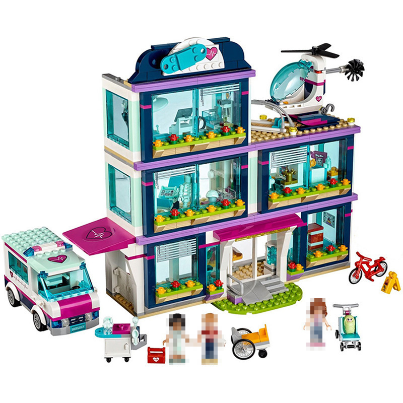 Lepin Heartlake City Park Heart Lake Love Hospital Building Blocks Girls Friends Series Sets Toys For Children Compatible legoed new 7033 friends series the city park cafe pirate ship model building block classic girl toys compatible with lepin