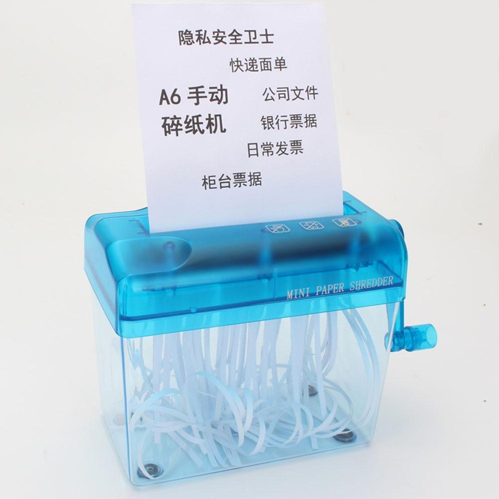 Mini Blue Shredder Crusher Destroyer Paper Documents Cutting MachineMini Blue Shredder Crusher Destroyer Paper Documents Cutting Machine
