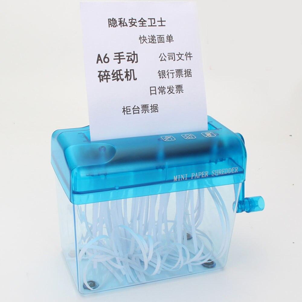 Mini Blue Shredder Crusher Destroyer Paper Documents Cutting Machine