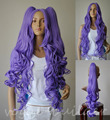 SCY FREE SHIPPING Hot heat resistant Party hair>>>>>2 CURLY lavender Purple PONYTAILS COSPLAY WIG Lolita