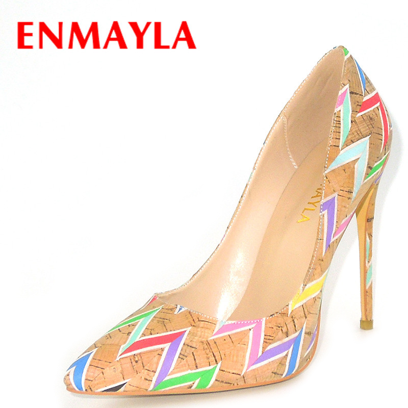 ENMAYLA Sexy Ladies Supper High Heels Mixed Colors Pumps Women 2018 Plus Size 46 Chaussures Femmes Shoes Woman Poined Toe PumpsENMAYLA Sexy Ladies Supper High Heels Mixed Colors Pumps Women 2018 Plus Size 46 Chaussures Femmes Shoes Woman Poined Toe Pumps